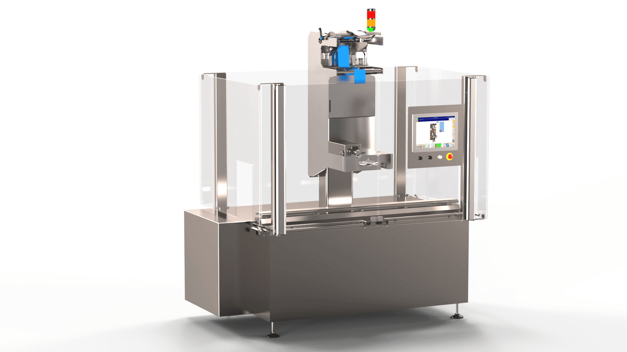 The Standalone Combi Machine TE 90, ready to start your glass carafes and flasks packaging operations