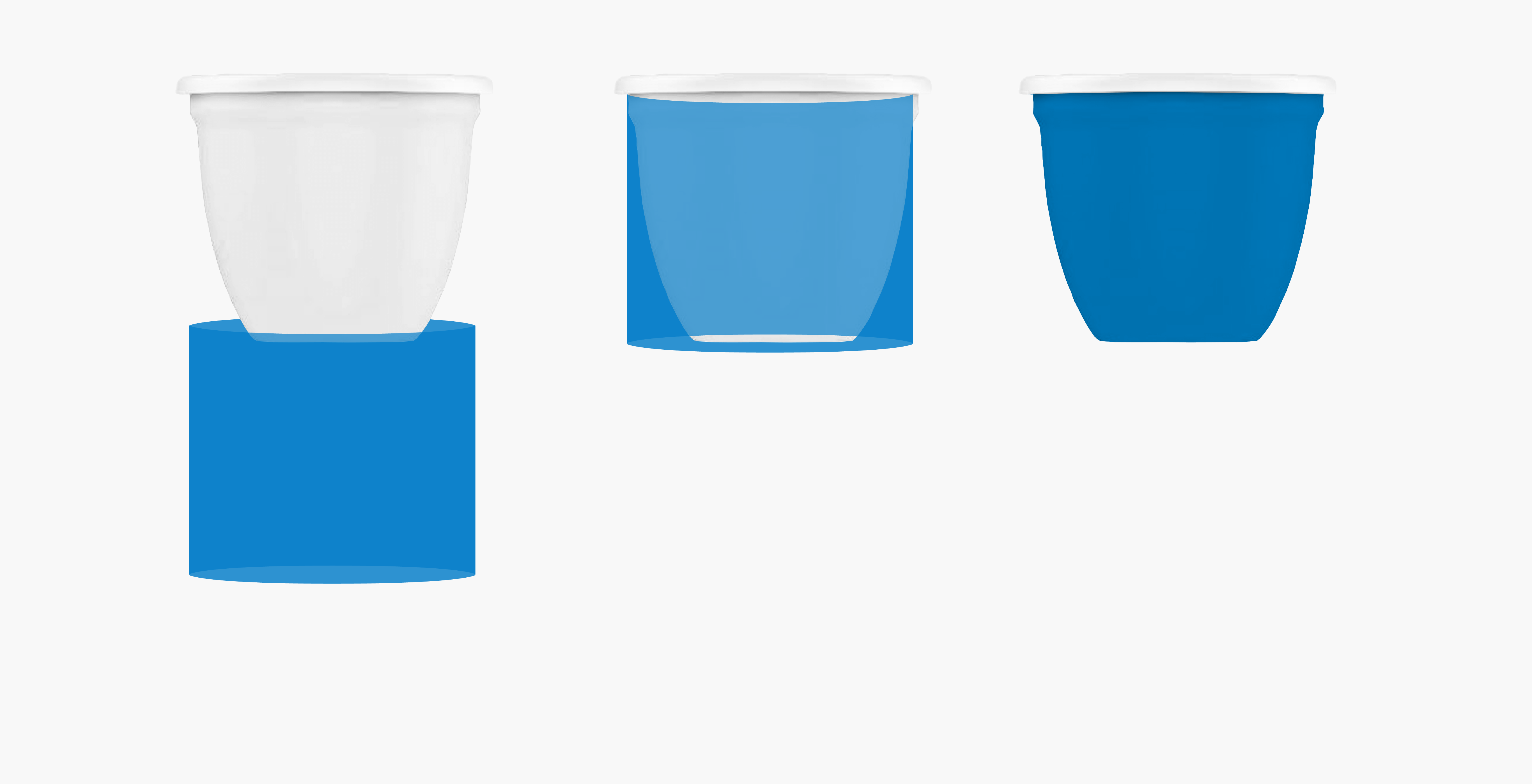Illustration of the differentiated application and shrinking of the Sleeve label from underneath the food jars