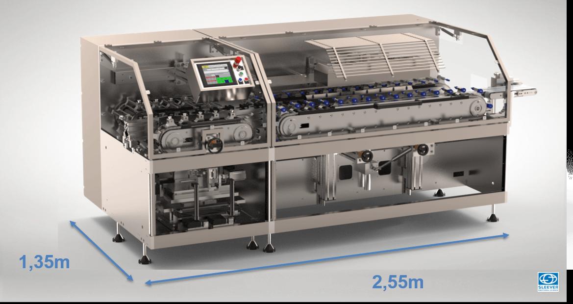 Une Machine de conditionnement compacte pour une surface au sol optimisée