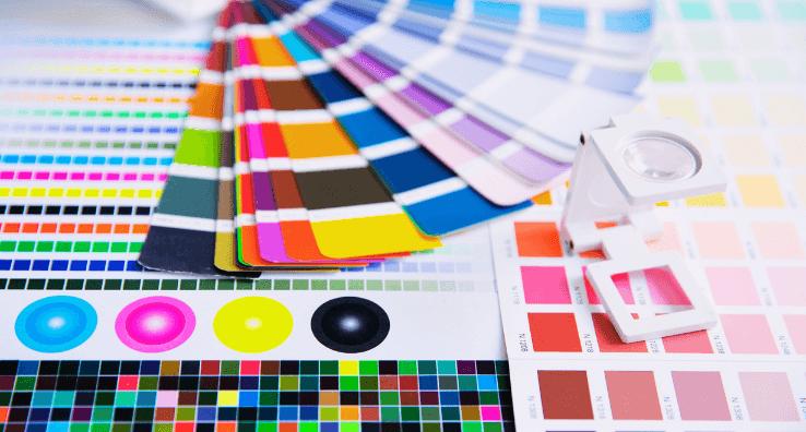 Nuancier de Teintes Pantone pour la création graphique des couleurs