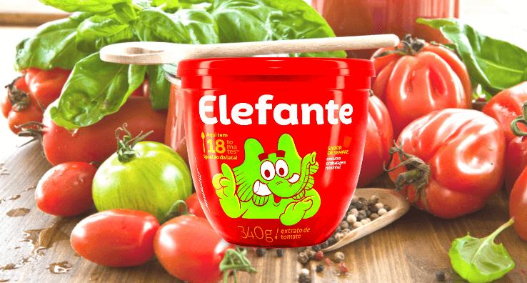 Le produit en pot alimentaire Elefante, conditionné avec un Sleeve d'emballage