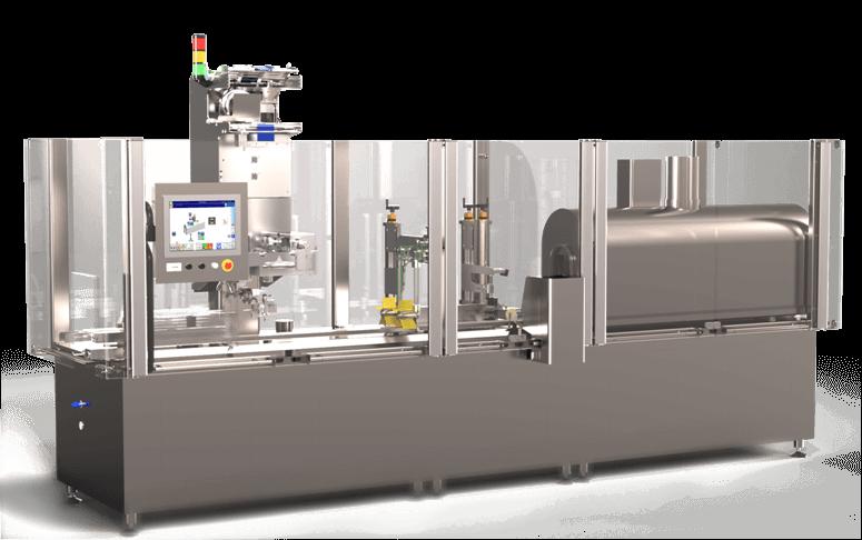 Machine de conditionnement incluant un Module de pose et rétraction des Emballages Sleeve