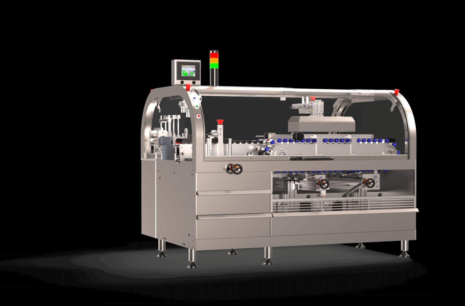 Machine de conditionnement adaptée pour la pose d'emballages Sleeve rétractable horizontalement