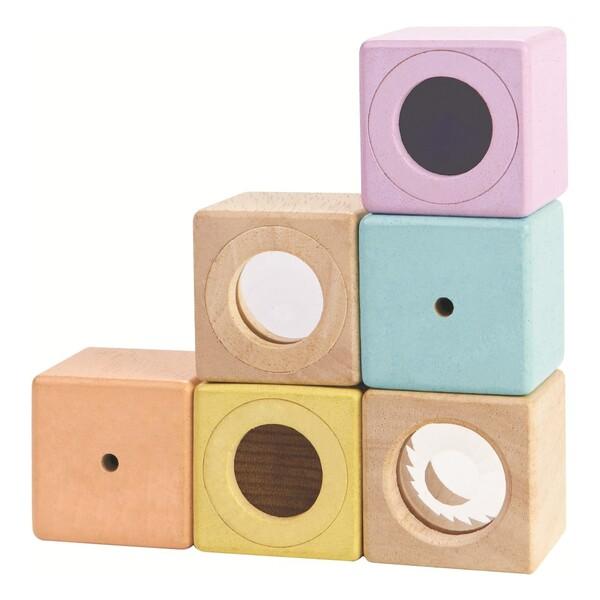 Blocs sensoriels pastel - Set de 6 Plan Toys Jouet et Loisir