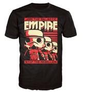 T-Shirt Pop! Homme Star Wars Stormtrooper Poster - Noir - M - Noir