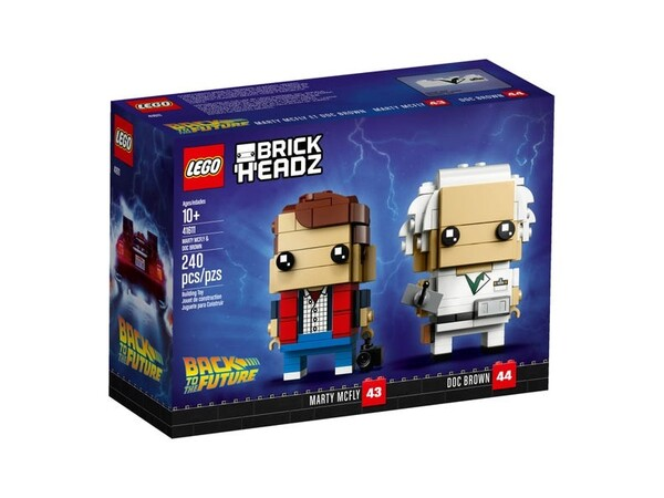 Marty McFly & Doc Brown 41611 | BrickHeadz | Boutique LEGO® officielle FR