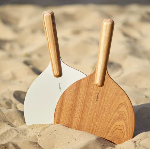 Raquettes de plage en bois