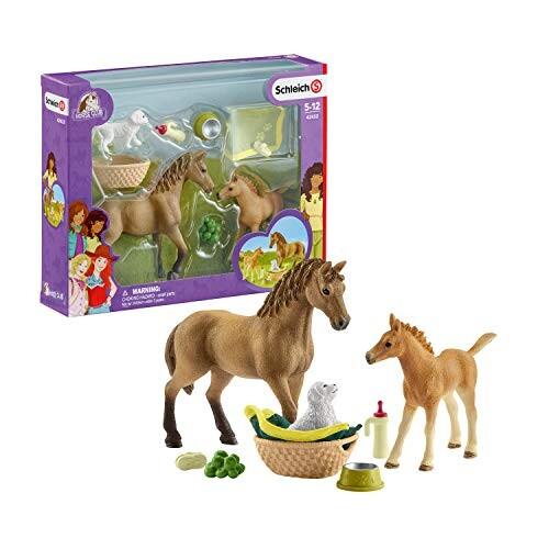 accessoires et figurines 42346 Schleich Pick-up avec remorque pour chevaux