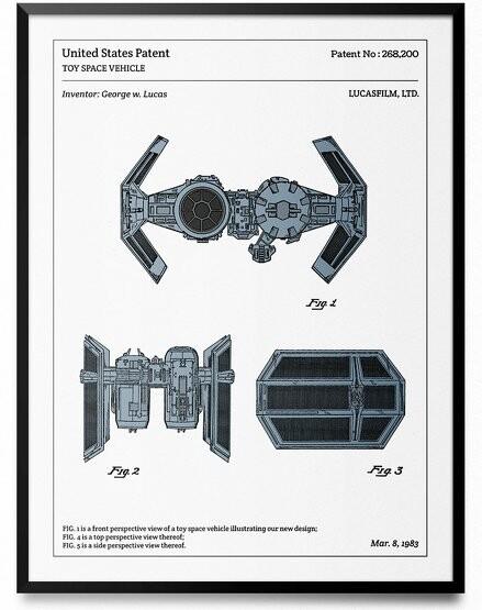 Affiche 40x30 cm Star Wars - L'Affiche Technique