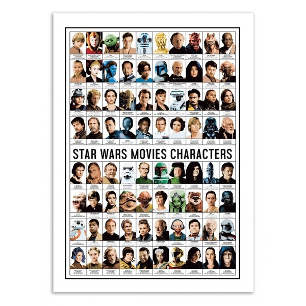 Poster d'art - Star Wars Movies Characters - Olivier Bourdereau