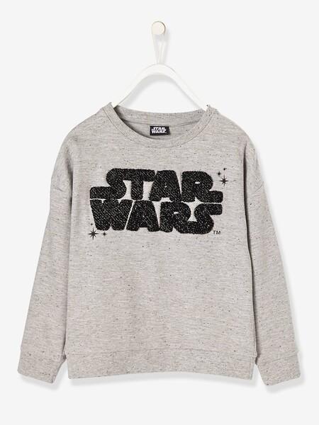 Sweat fille Star Wars® gris clair chiné