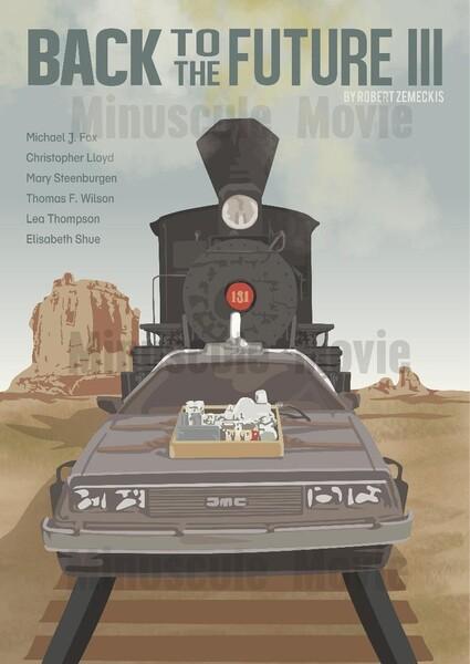 Affiche de film Retour vers le Futur 3 - Poster Robert Zemeckis A3