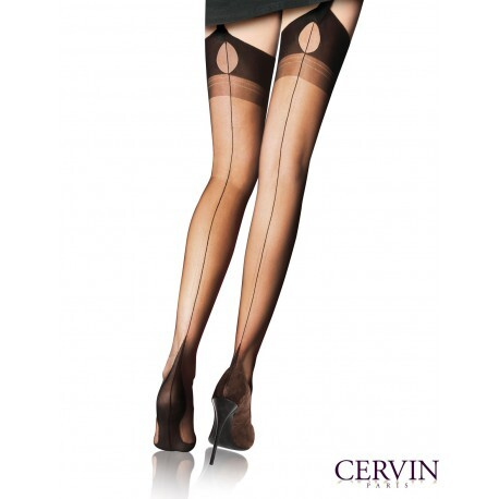 Bas couture Tentation Cervin Paris : bas Fully Fashioned made in france