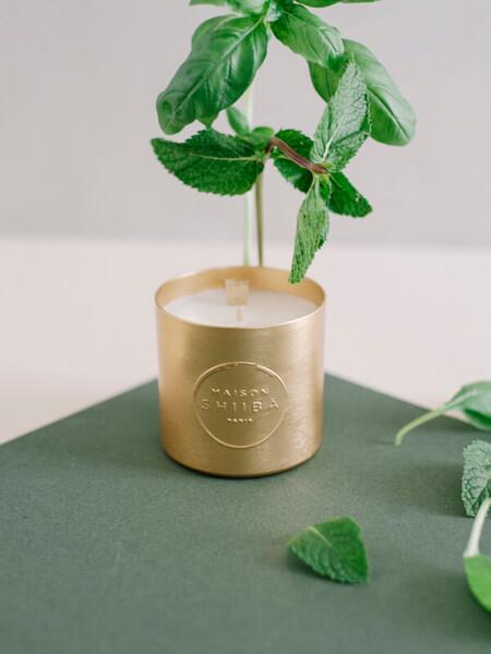 Bougie Parfumée à la Menthe Basilic | Bougies Maison Shiiba