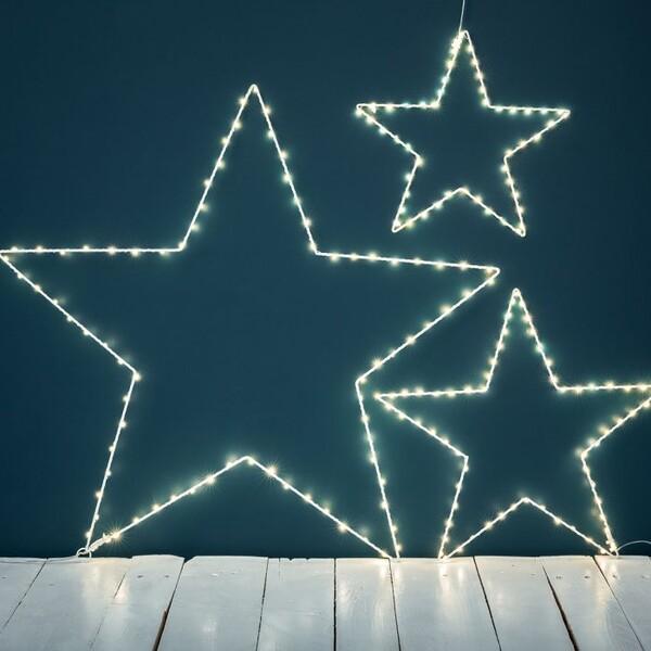 Étoile lumineuse blanche à leds - Le Petit Florilège