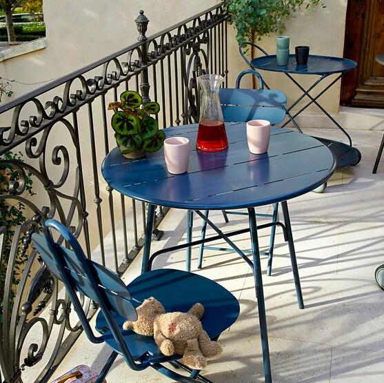 Lot de 2 chaises de jardin métal, Cléa