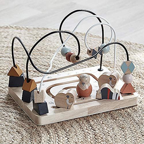 Circuit de perle en bois