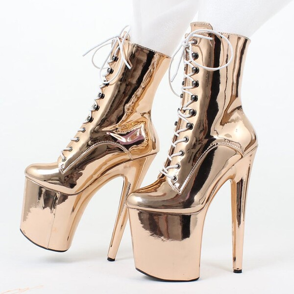 Fetish Latex Wang | Sexy BDSM Bondage Domination Queen Imprisonment high heel boots | Patent leather boots | Glossy and Matte