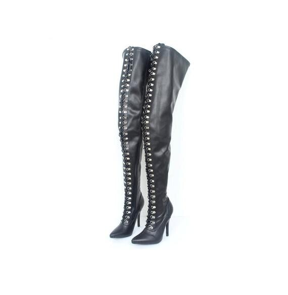 Fetish Latex Wang | Sexy BDSM Bondage Domination Queen Imprisonment high heel leg boots | Patent leather boots | Matte & Glossy leg boots