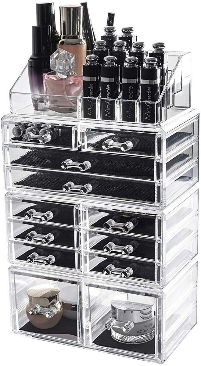 D4P Display4top Organisateur Maquillage Acrylique Boîte à Bijoux Transparent Rangement de ...