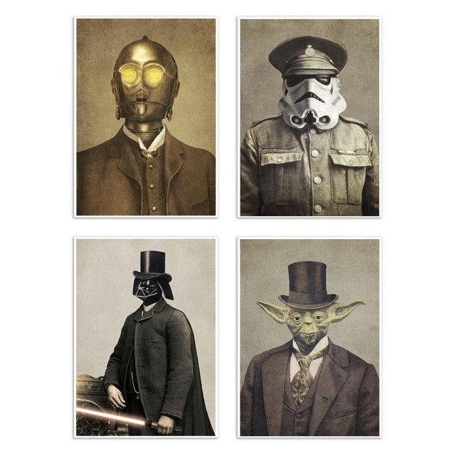4 Art-Posters 20 x 30 cm - Star Wars Vintage portraits - Terry Fan