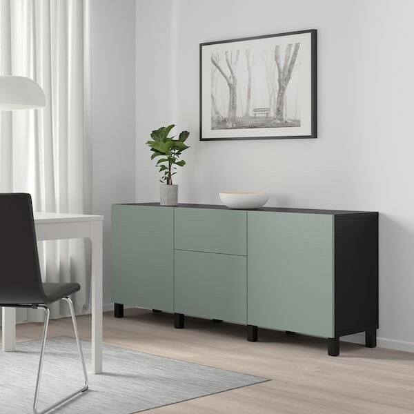 Besta Combinaison Rangement Tiroirs Brun Noir Notviken Stubbarp Gris Vert Ikea Listy La Wishlist Reinventee