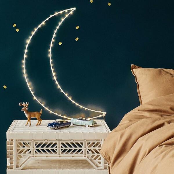 Lune lumineuse à leds - Le Petit Florilège - Luminaires > Appliques