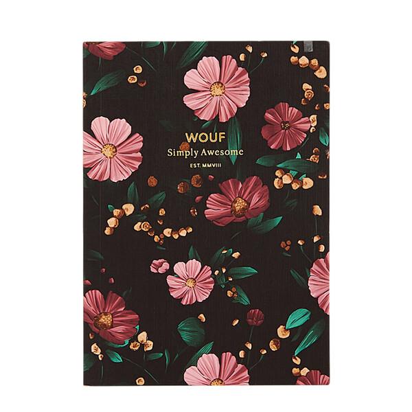 Carnet Black Flowers - A6 Multicolore Wouf Design Adulte