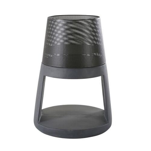 Brasero en fibre d'argile et métal noirs | Maisons du Monde