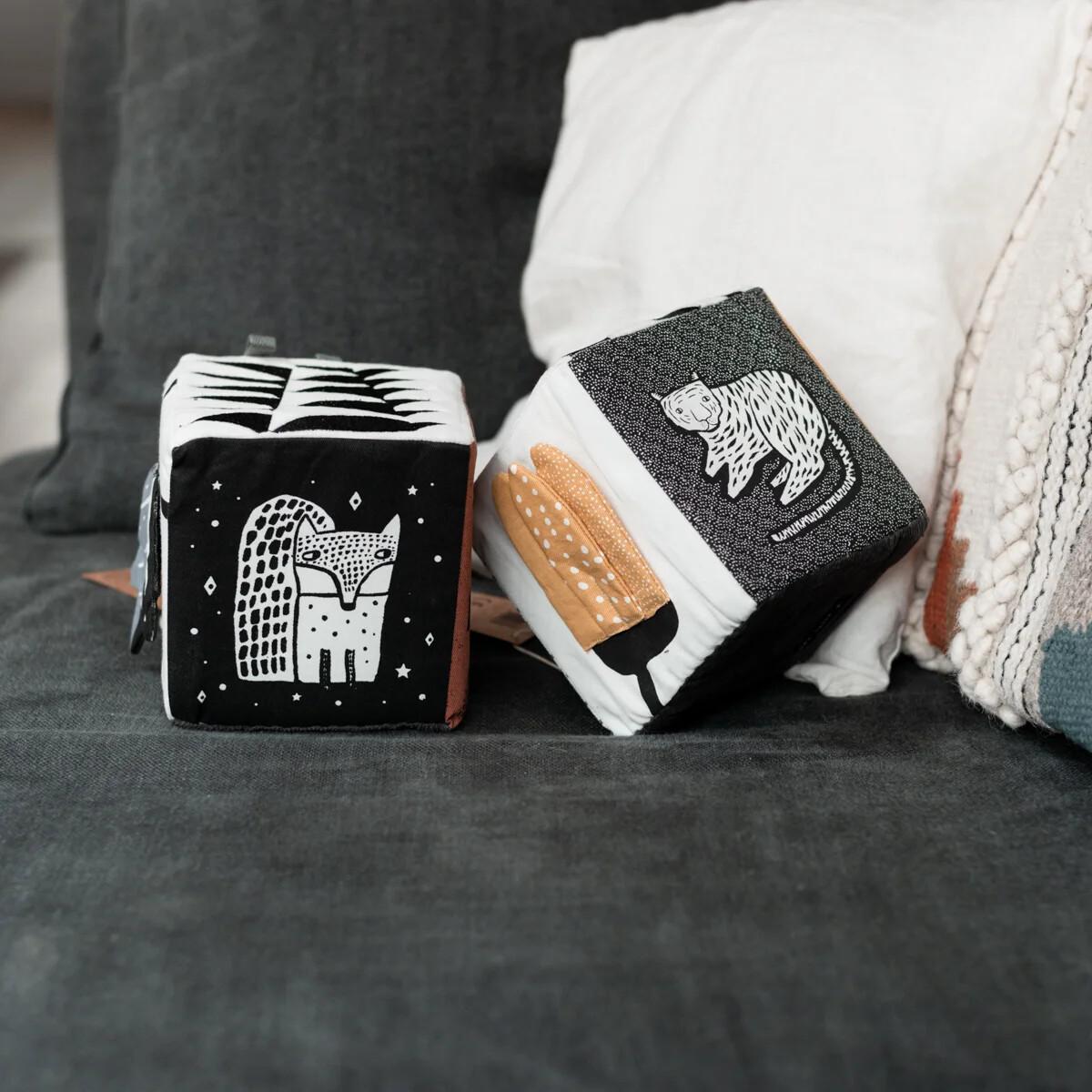 Cubes d'éveil en coton bio