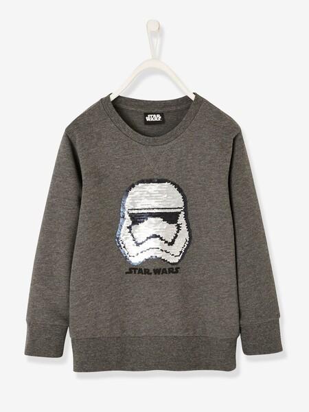 Sweat garçon Star Wars® avec motif en sequins réversibles gris anthracite