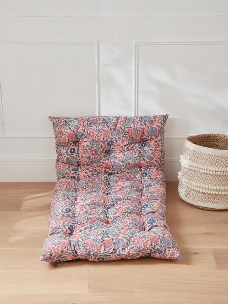 Matelas style futon tissu indien - imprimé fleuri rose, Maison - Vetement et déco Cyrillus