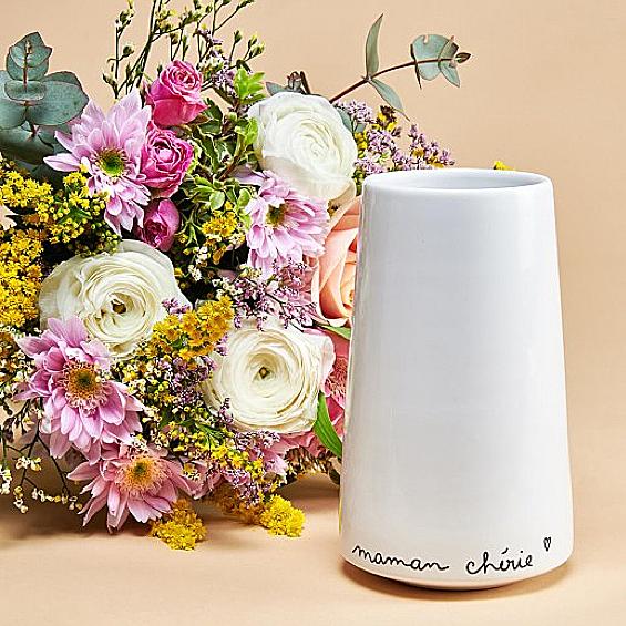 Monsieur Marguerite - Coffret bouquet + vase