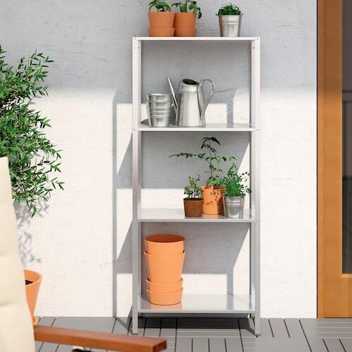 HYLLIS Étagère, intérieur/ extérieur acier zingué - IKEA - IKEA